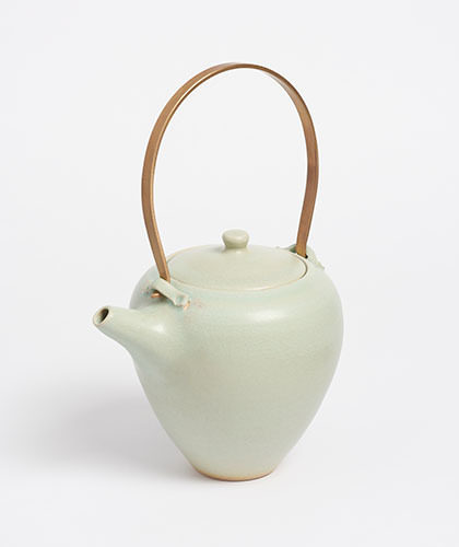 The Garnered - Arielle De Gasquet Tall Pale Celadon Teapot The Garnered Thumb