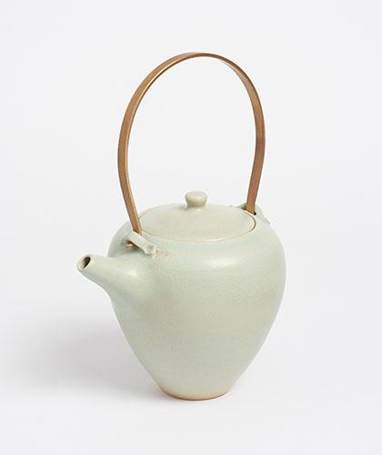 The Garnered - Arielle De Gasquet Tall Pale Celadon Teapot The Garnered Thumb