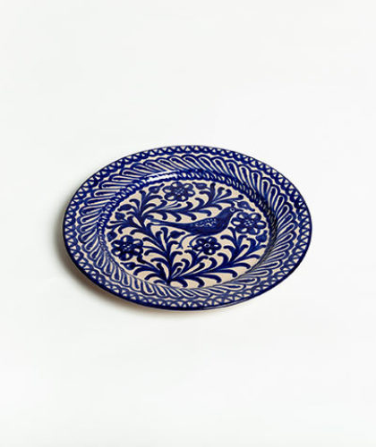 The Garnered - Blue 26Cm Classic Plate Casa Lopez Ceramics The Garnered Thumbnail