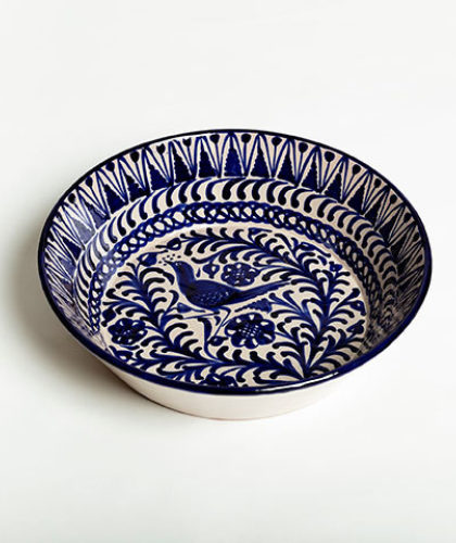 The Garnered - Blue 32Cm Salad Bowl Casa Lopez Ceramics The Garnered Thumbnail