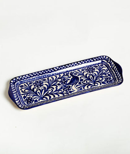 The Garnered - Blue Cake Dish Casa Lopez Ceramics The Garnered Thumbnail