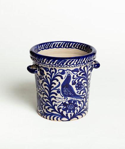 The Garnered - Blue Ice Bucket Casa Lopez Ceramics The Garnered Thumbnail