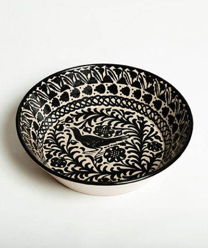The Garnered - Casa Lopez Black 32Cm Salad Bowl The Garnered Thumbnail