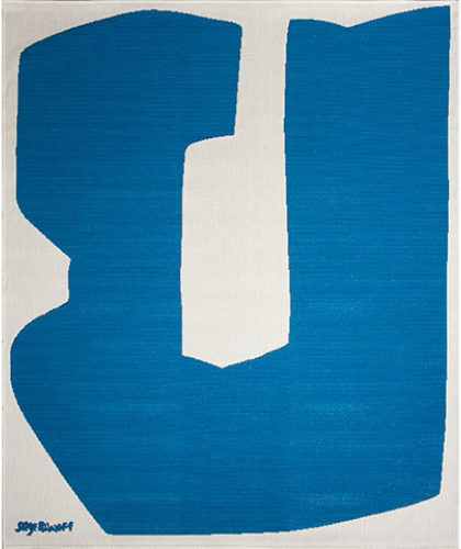 The Garnered - Casa Lopez Rug The Garnered Poliakoff Bleu Thumbnail
