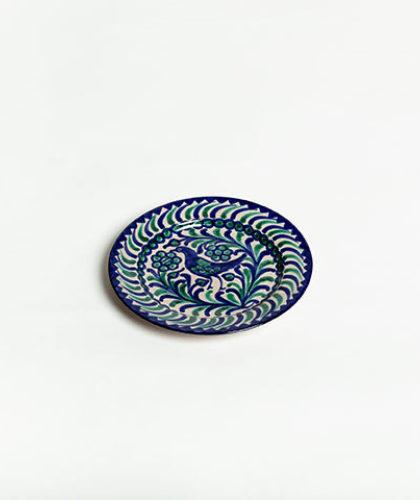 The Garnered - Green Blue 20Cm Dessert Plate Casa Lopez Ceramics The Garnered Thumbnail