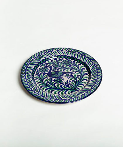 The Garnered - Green Blue 26Cm Classic Plate Casa Lopez Ceramics The Garnered Thumbnail