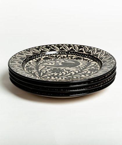 The Garnered - Group Black 30Cm Presentation Plate Casa Lopez Ceramics The Garnered Thumbnail