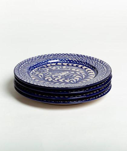 The Garnered - Group Blue 26Cm Classic Plate Casa Lopez Ceramics The Garnered Thumbnail