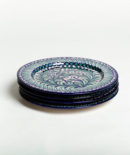 The Garnered - Group Green Blue 26Cm Classic Plate Casa Lopez Ceramics The Garnered Thumbnail