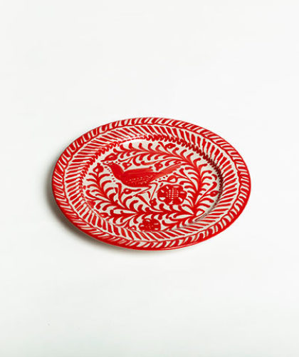 The Garnered - Red 26Cm Classic Plate Casa Lopez Ceramics The Garnered Thumbnail