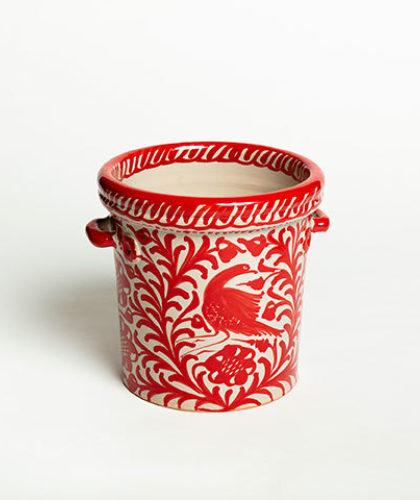 The Garnered - Red Ice Bucket Casa Lopez Ceramics The Garnered Thumbnail