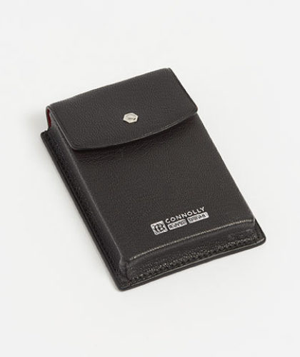The Garnered - Connolly Black Leather Business Card Holder The Garnered Thumbnail