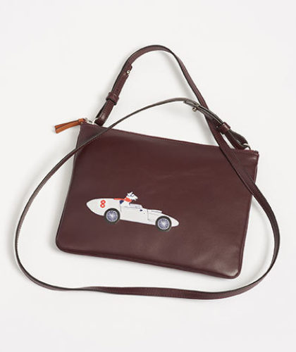 The Garnered - Connolly Burgundy Leather Car Pouch The Garnered Thumbnail