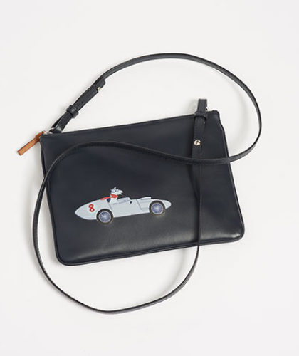 The Garnered - Connolly Navy Leather Car Pouch The Garnered Thumbnail