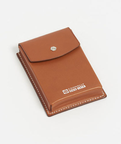 The Garnered - Connolly Tan Leather Business Card Holder The Garnered Thumbnail