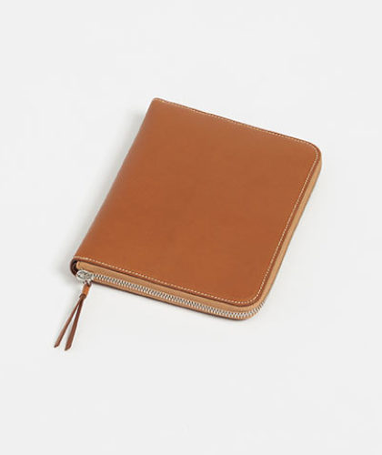 The Garnered - Connolly Tan Leather Zip Wallet Coin Purse The Garnered Outside Thumbnail