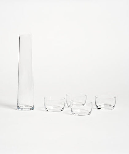 The Garnered - Deborah Ehrlich Glass Sake Set The Garnered Thumbnail