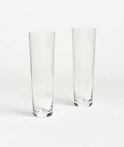 The Garnered - Pair Of Simple Swedish Straight Champagne Glasses Deborah Ehrlich The Garnered Thumbnail