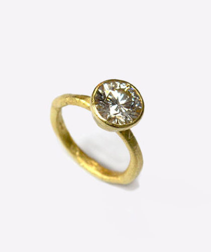 The Garnered - Disa Allsopp Fine Hand Crafted Jewelry 18 K Gold Ring 0 30Pt Diamond The Garnered Thumbnail