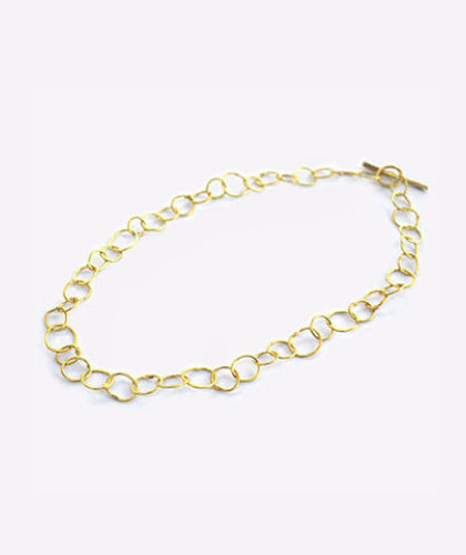 The Garnered - Disa Allsopp Fine Handcrafted Jewelry 18 K Gold Organic Chain The Garnered Thumbnail 2