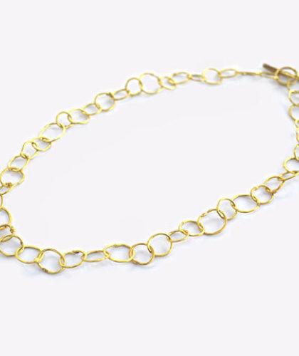The Garnered - Disa Allsopp Fine Handcrafted Jewelry 18 K Gold Organic Chain The Garnered Thumbnail