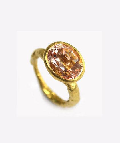 The Garnered - Disa Allsopp Fine Handcrafted Jewelry 18 K Gold Rose Morganite Ring The Garnered Thumbnail 2