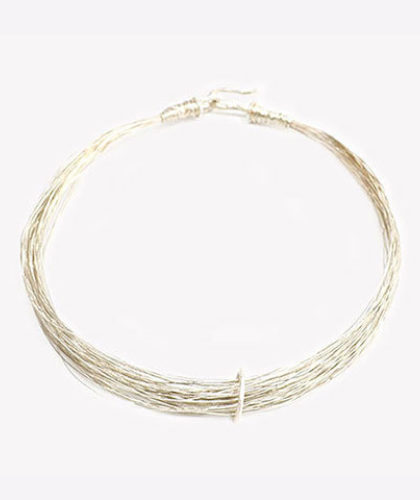 The Garnered - Disa Allsopp Fine Handcrafted Jewelry Sterling Silver Spaghetti Necklace The Garnered Thumbnail 2