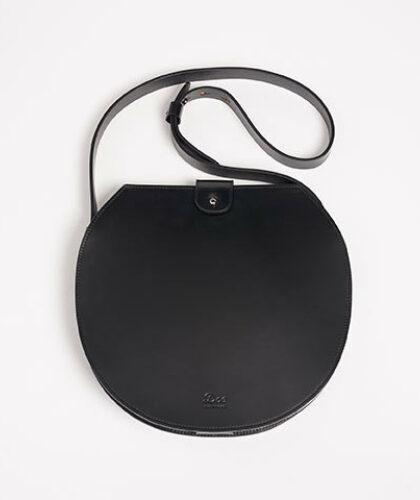 The Garnered - Doe Leather Black Circle Bag The Garnered Thumbnail