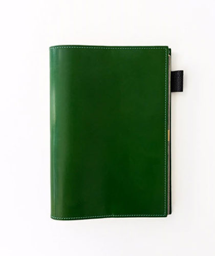 The Garnered - Doe Leather Fine Accessories Notebook Cover Avocado Green The Garnered Thumbnail