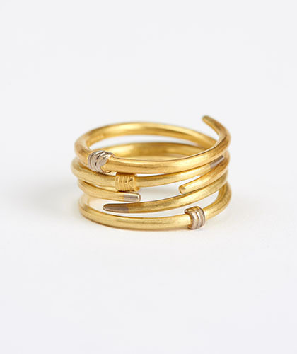 The Garnered - Jean Scott Moncrieff Crossover Rings Rose Gold Silver Stack The Garnered Thumbnail