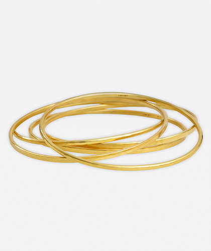 The Garnered - Jean Scott Moncrieff Gold Bangles The Garnered Thumbnail