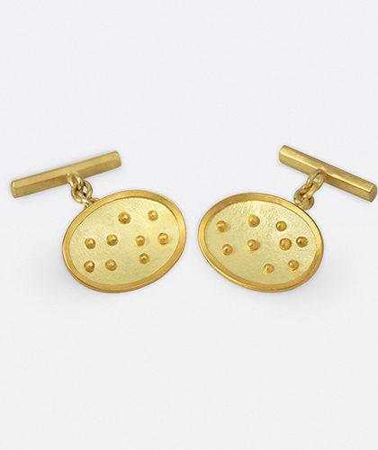 The Garnered - Jean Scott Moncrieff Gold Cufflinks Granules The Garnered Thumbnail