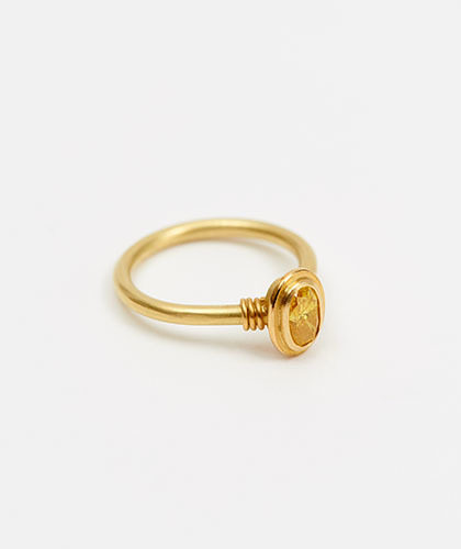 The Garnered - Jean Scott Moncrieff Gold Ring Yellow Diamond Side The Garnered Thumbnail