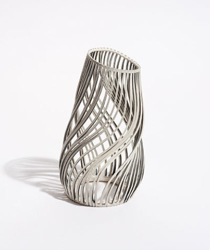 The Garnered - Lauren Nauman Ceramics Large Striped Lines Vessel The Garnered Thumbnail
