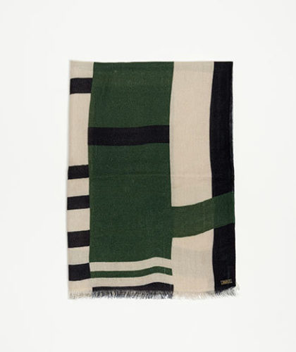 The Garnered - Melt Scarves Kiran Echarpe Print Stag Hunting Green The Garnered Thumbnail