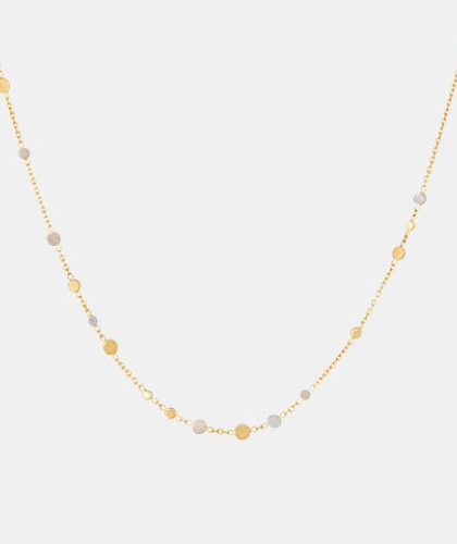 The Garnered - Sia Taylor Scattered Dust Gold Platinum Necklace The Garnered Thumbnail
