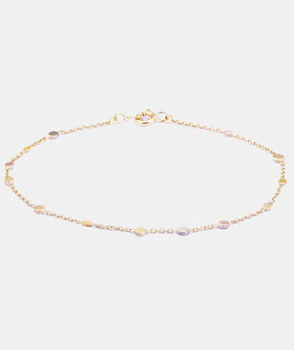 The Garnered - Sia Taylor Scattered Rainbow Gold Dots Bracelet The Garnered Thumbnail