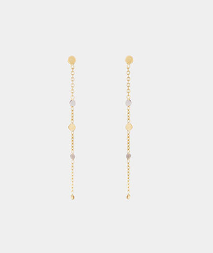 The Garnered - Sia Taylor Gold Platinum Little Dust Earring The Garnered Thumbnail