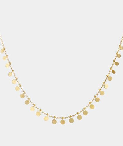 The Garnered - Sia Taylor Medium Yellow Gold Dots Necklace The Garnered Thumbnail