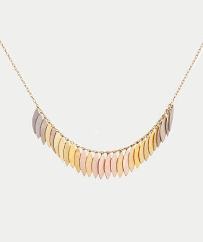 The Garnered - Sia Taylor Rainbow Leaf Arc Necklace The Garnered Thumbnail