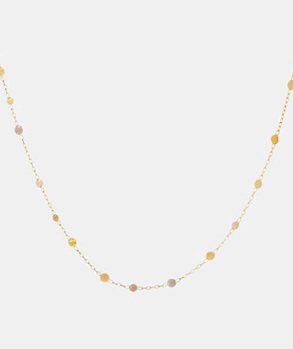 The Garnered - Sia Taylor Rainbow Scattered Dots Necklace The Garnered Thumbnail