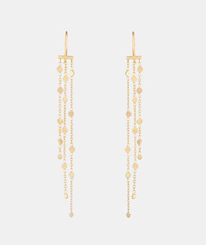 The Garnered - Sia Taylor Yellow Gold Falling Dust Earring The Garnered Thumbnail