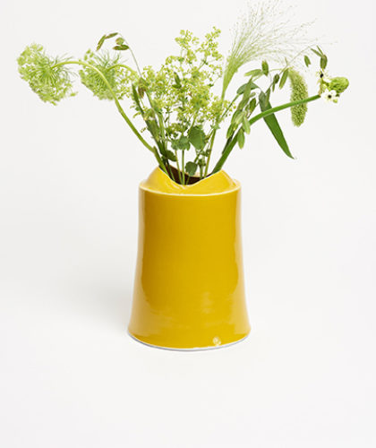 The Garnered - Yellow Tall Vessel Small Medium Tanya Gomez Ceramics The Garnered 40 Thumbnail
