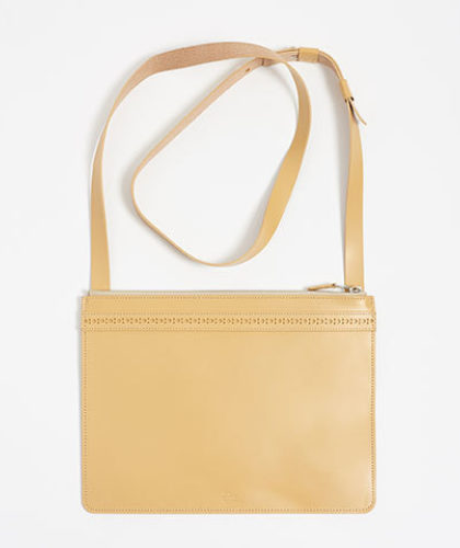 The Garnered - Parchment Leather Brogue Bag Doe Leather The Garnered Thumbnail