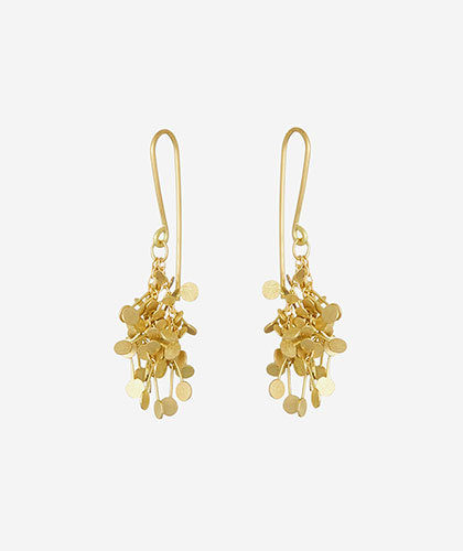 The Garnered - Sia Taylor Gold Dot Cluster Earrings The Garnered Thumbnail