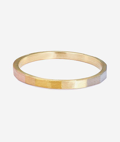 The Garnered - Sia Taylor Gold Faceted Ring The Garnered Thumbnail