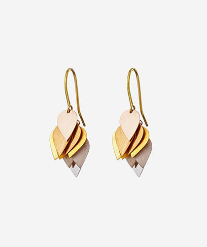 The Garnered - Sia Taylor Gold Petal Cluster Earring The Garnered Thumbnail