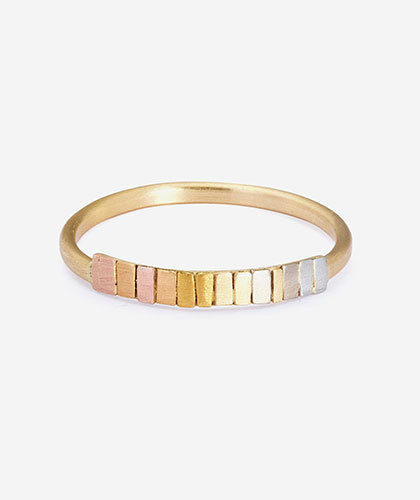 The Garnered - Sia Taylor Gold Rainbow Arc Ring The Garnered Thumbnail