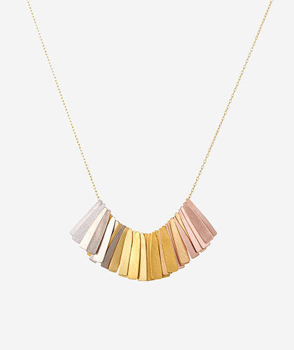 The Garnered - Sia Taylor Gold Rainbow Ray Necklace The Garnered Thumbnail