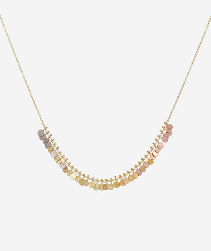 The Garnered - Sia Taylor Gold Rainbow Tiny Dots Arc Necklace The Garnered Thumbnail